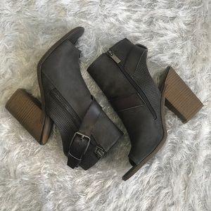DV Dark gray open toe booties